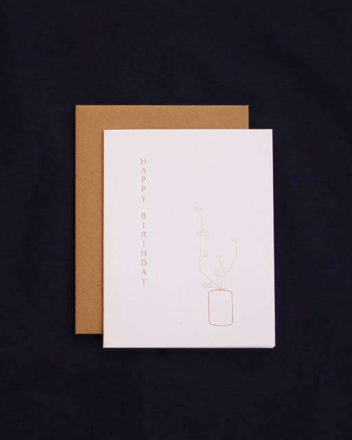 Taiga Press Card, Ikebana Happy Birthday