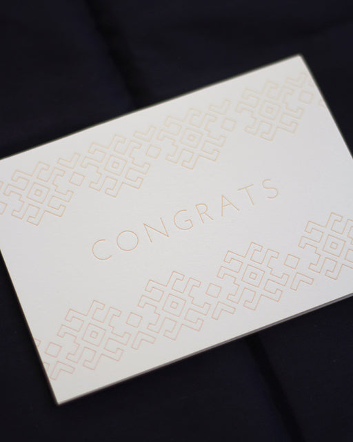 Taiga Press Card, Folk Lines Congrats