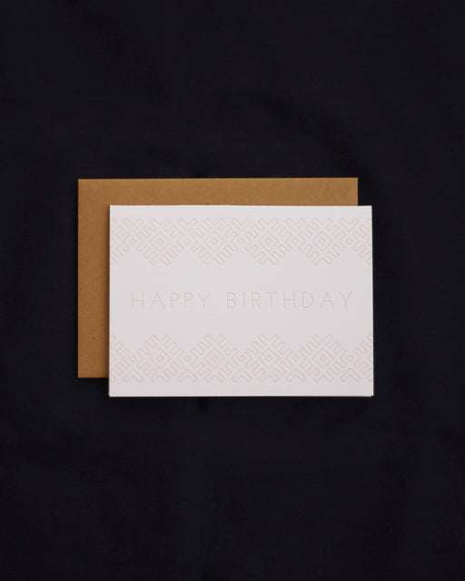 Taiga Press Card, Folk Lines Happy Birthday