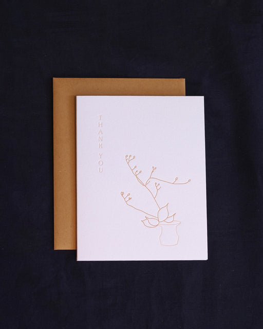 Taiga Press Card, Ikebana Thank You