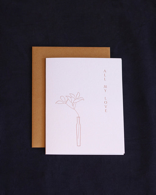 Taiga Press Card, Ikebana All My Love