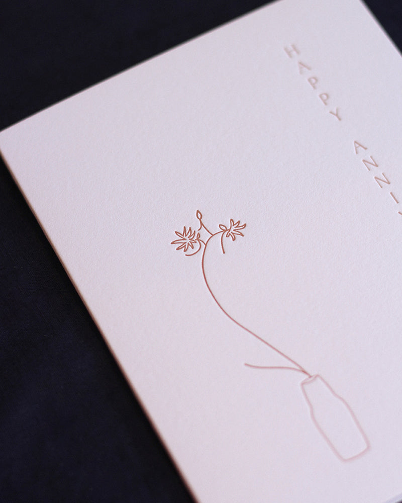 Taiga Press Card, Ikebana Happy Anniversary
