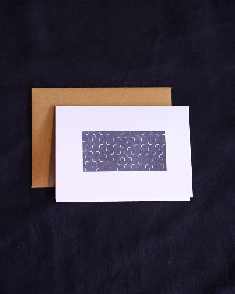 Taiga Press Card, Sashiko Blue