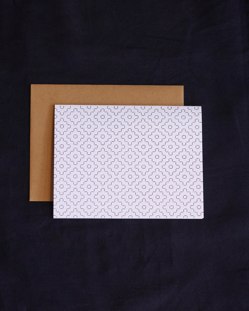 Taiga Press Card, Sashiko White