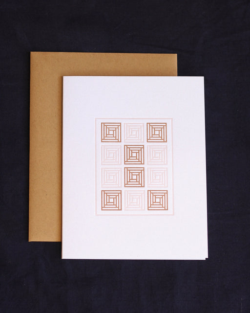 Taiga Press Card, American Quilt No. 4