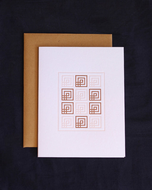 Taiga Press Card, American Quilt No. 2