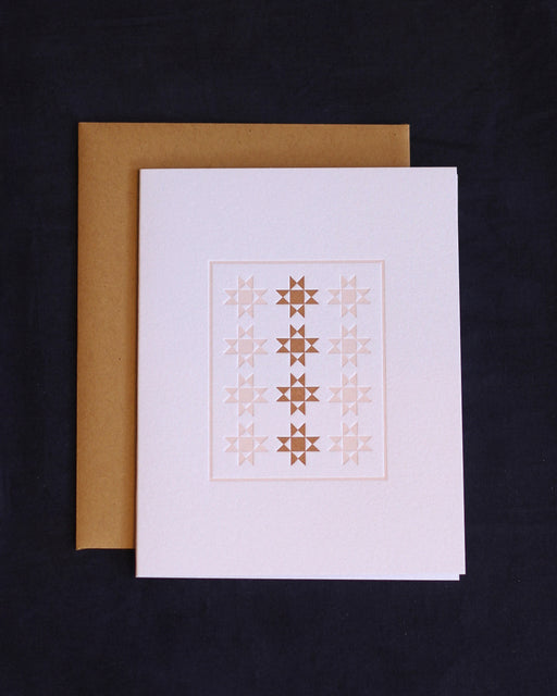 Taiga Press Card, American Quilt No. 1