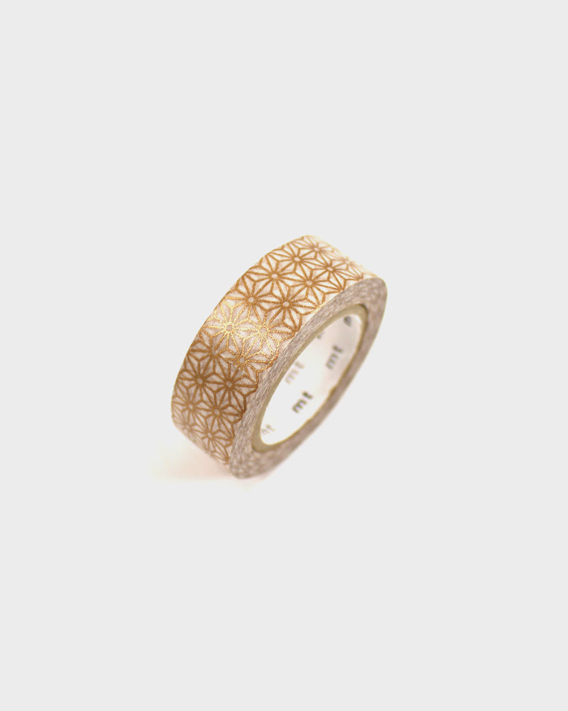 Washi Tape, Gold Asanoha