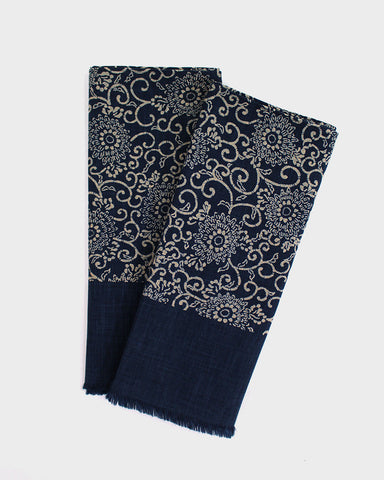 Tea Towel Large, Indigo Small Kiku