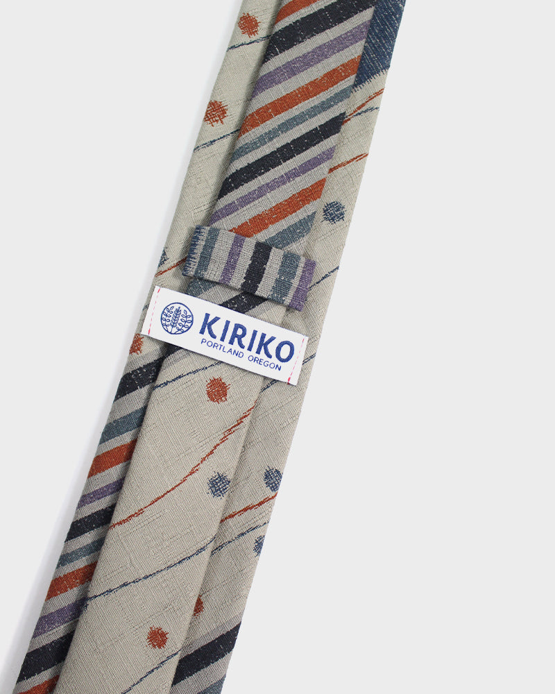 Tie Grey Multi-Pattern Shima