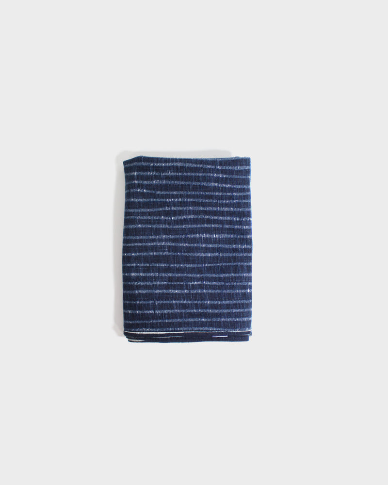 Large Simple Tsuno, Indigo Bamboo Shima