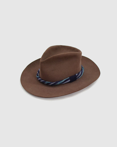 Kiriko Wool Hat, Stripe Band