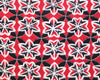 Vintage Fabric Red Floral Grid