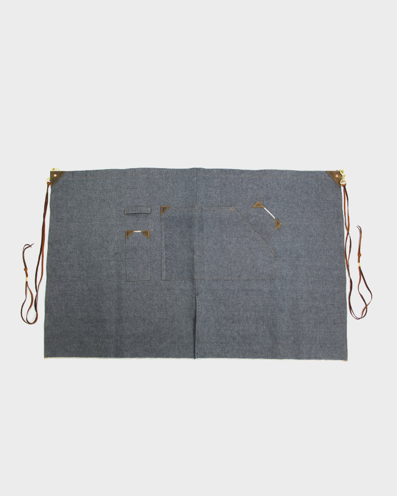Japanese Selvedge Denim Waist Work Apron, Blue