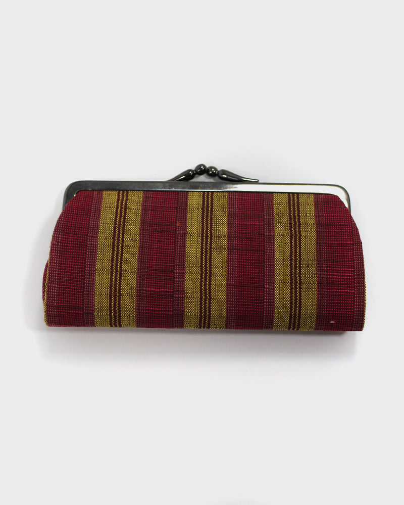 Red and Yellow Aizu, Cotton Wallet