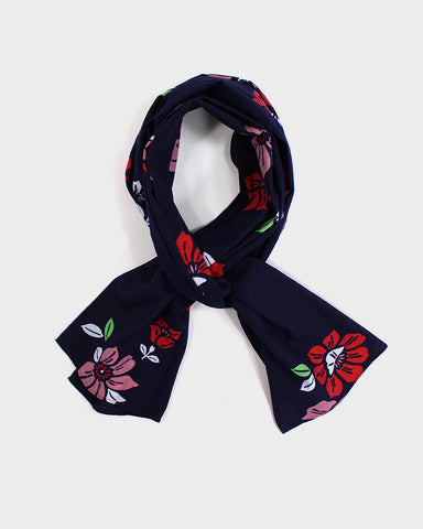 Yukata Scarf, Pink and Red Floral