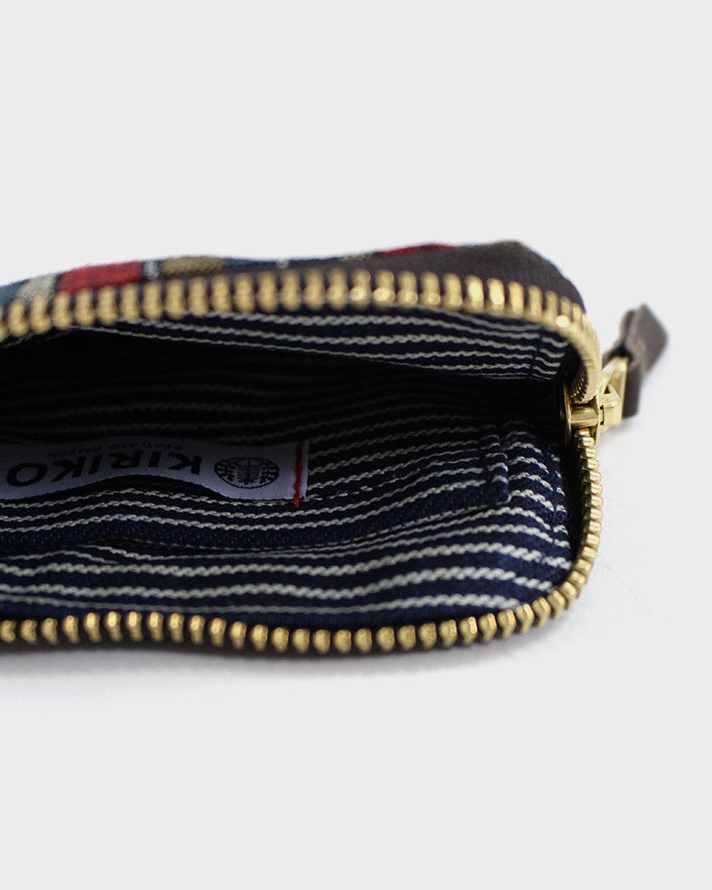 Zipper Wallet, Indigo Dragon