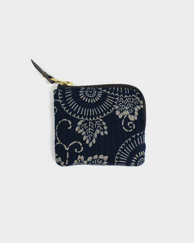 Zipper Wallet, Large Indigo Kiku