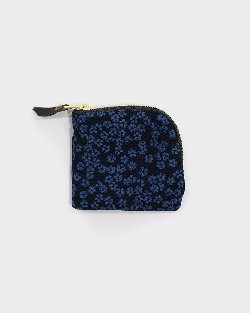 Zipper Wallet, Indigo Blue Sakura