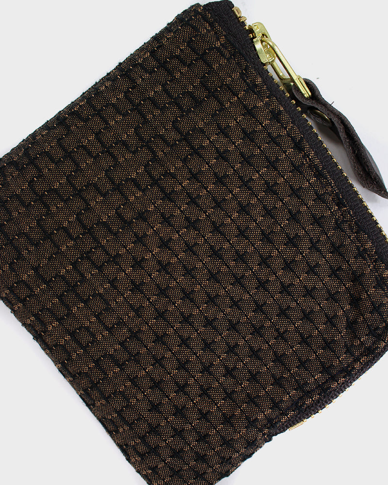 Zipper Wallet, Brown Sashiko