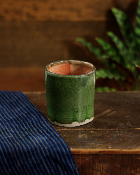 Vintage Green Glazed Cup