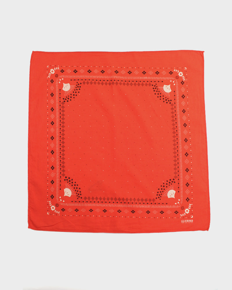 Two Tone Custom-Dyed Bandana, Shu-Iro, Harvest