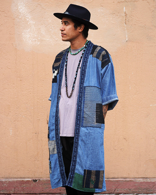 One of a Kind Boro Patched Robe (L/XL) (01)