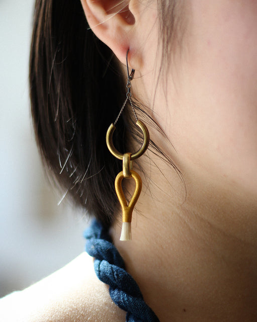 Boet Lux Earrings, Gold & Blonde