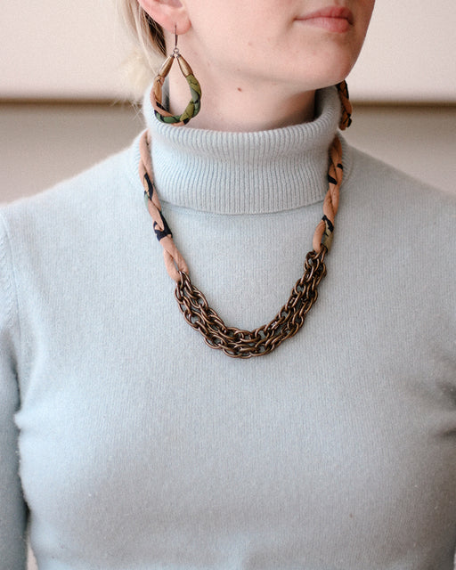Boet X Kiriko, Boro Collar Necklace, Blush