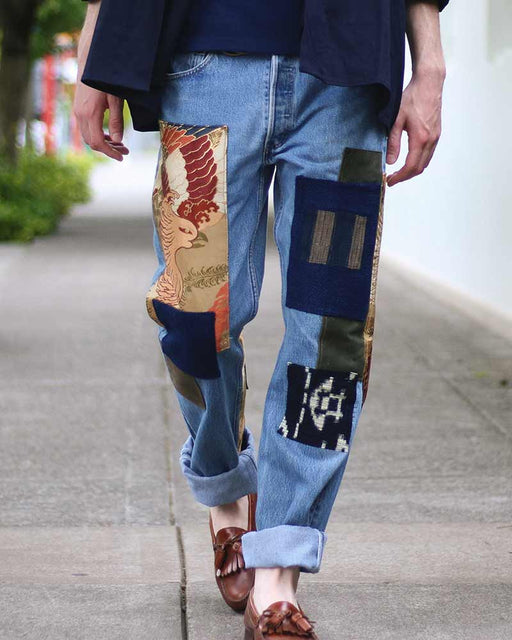 "One of a Kind Leviʻs Denim, ""Phoenix Obi"" and ""Waxed Canvas"" (33x35)"