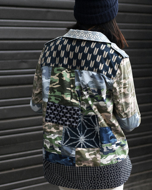 One of a Kind Boro Patched Camouflage Jacket (M)