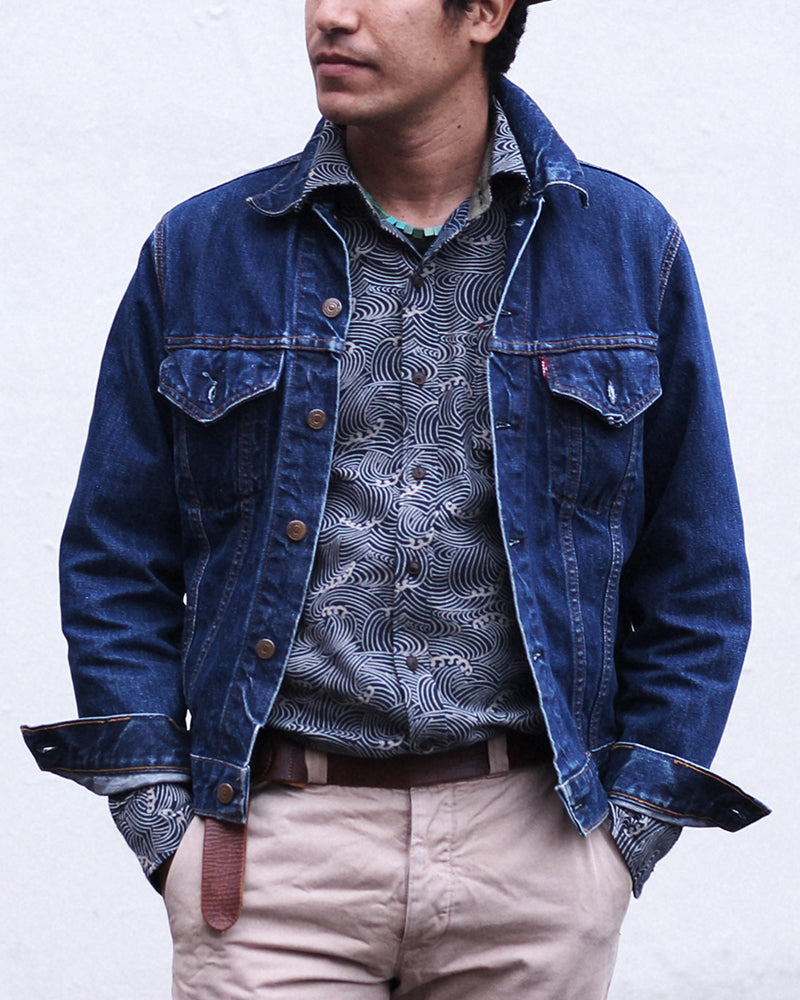 Button-Up Shirt Long-Sleeve Indigo Nami