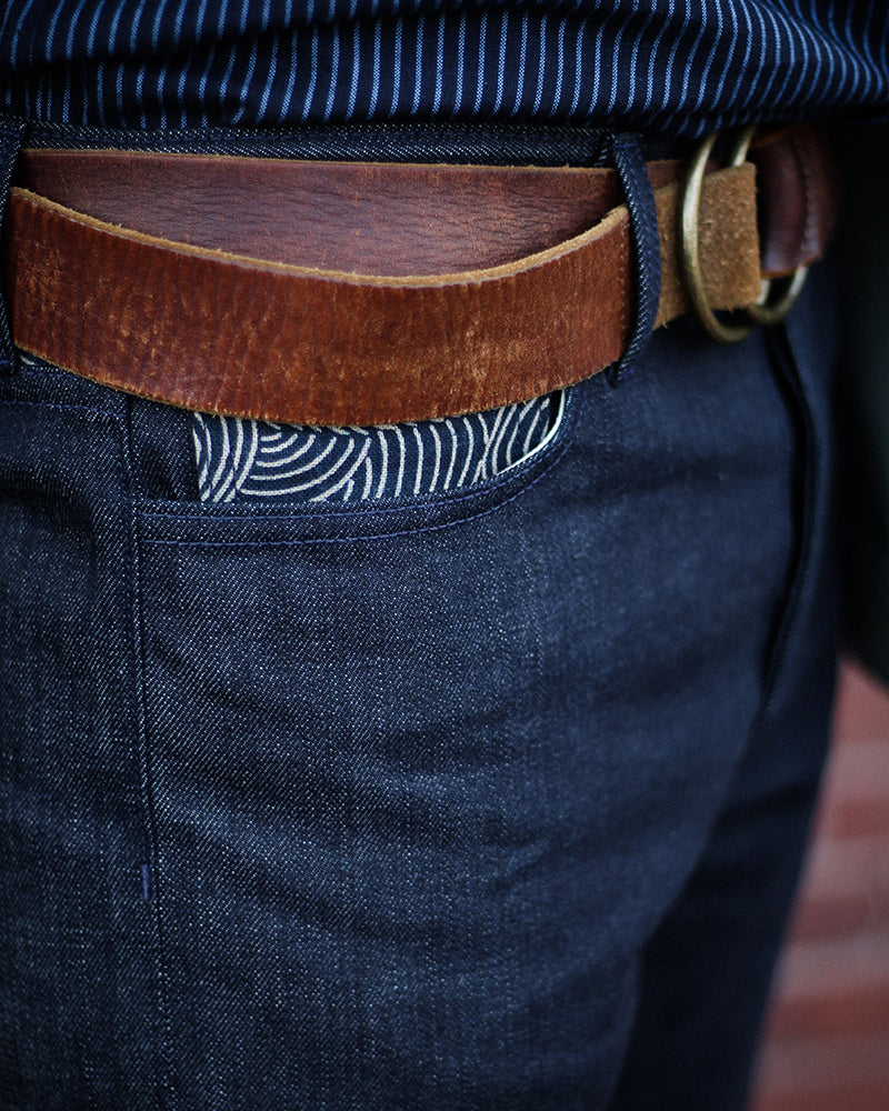 Premium Japanese Selvedge Denim Jeans, Mens, with Nami