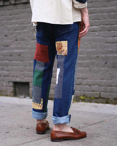 "One of a Kind Leviʻs Denim, ""Obi and Sashiko"""