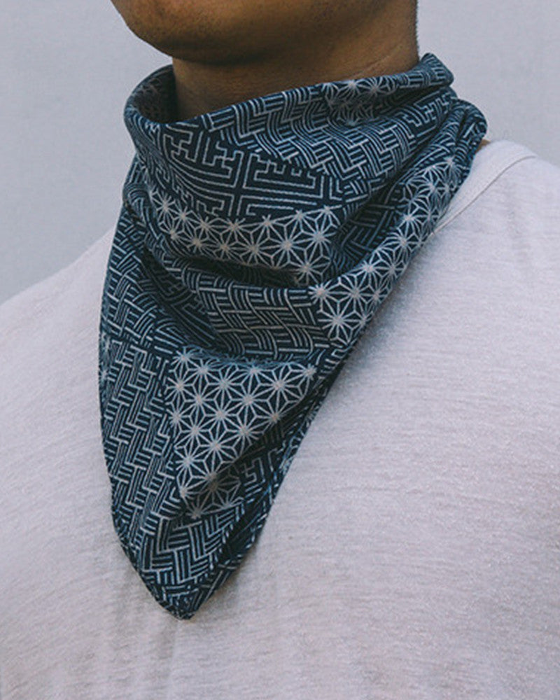 Bandana Indigo Small Multi Pattern