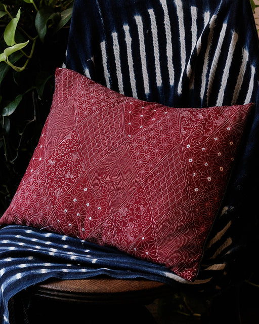 Red Multi Pattern Pillow