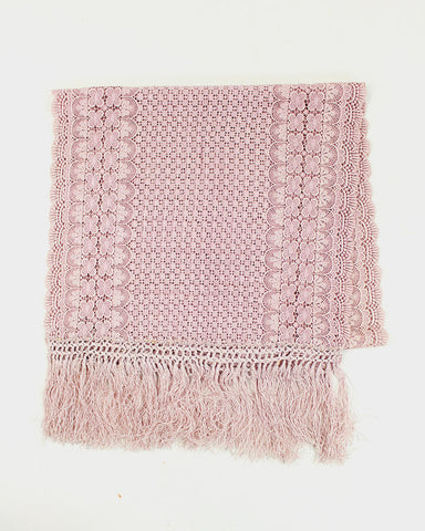 Vintage Dusty Pink Lace Shawl