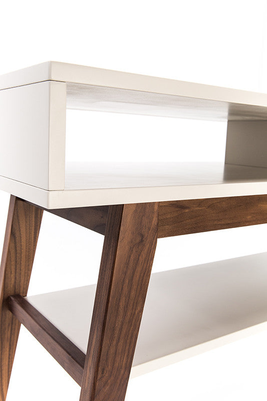 Walnut Console Table furniture maison | walnut console table with shelf