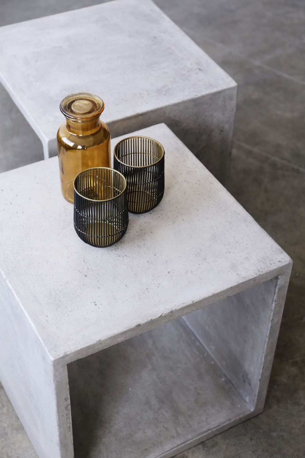 Vega Concrete Cube Set Of 2
