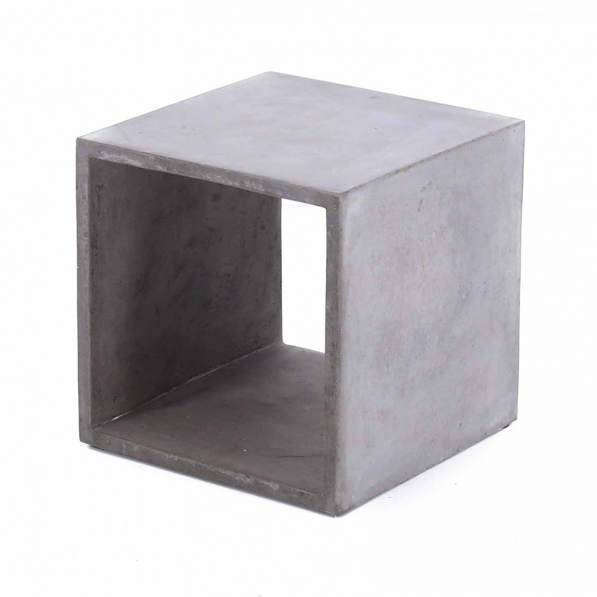 Furniture maison durable vega concrete cube - Cube de rangement ...
