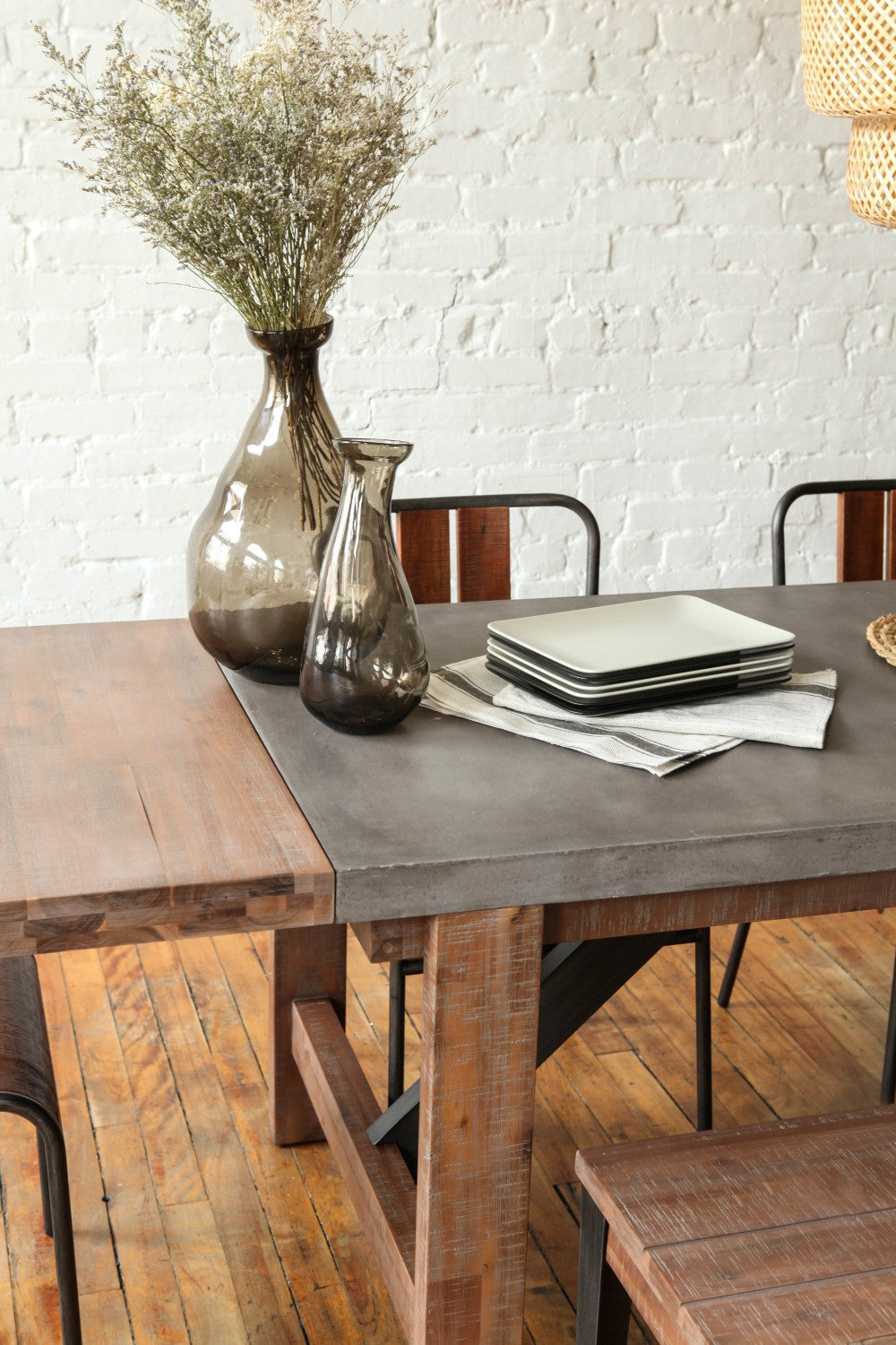 Furniture Maison Small Concrete Dining Table With