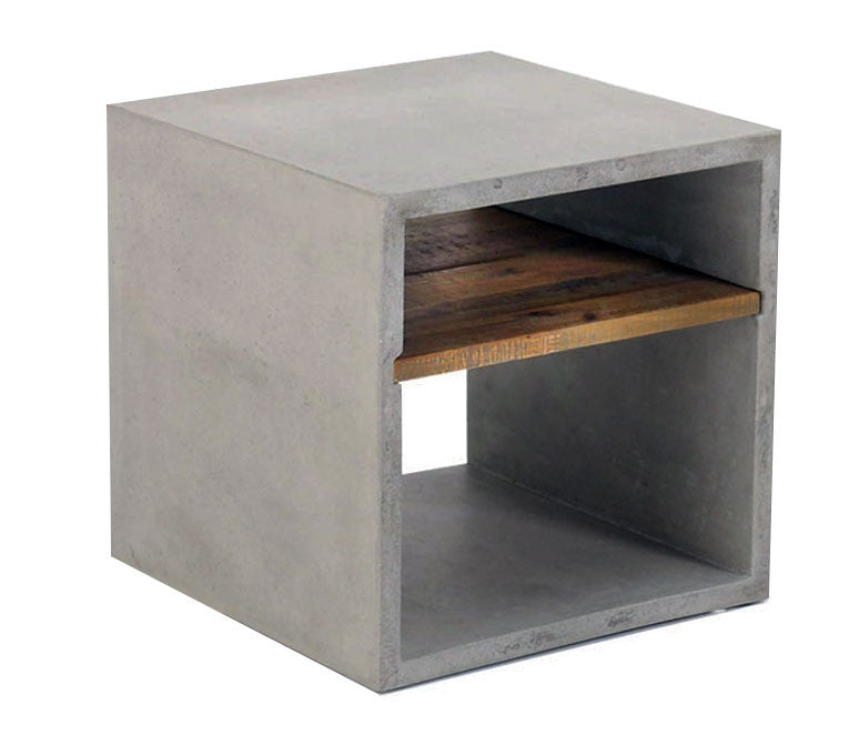 Vega Concrete Cube W Shelf Set Of 2