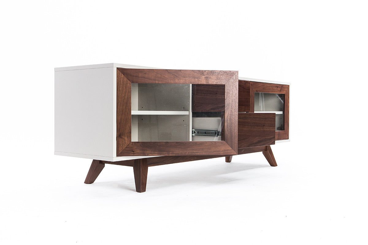 Furniture maison a modern walnut media console Modern media console