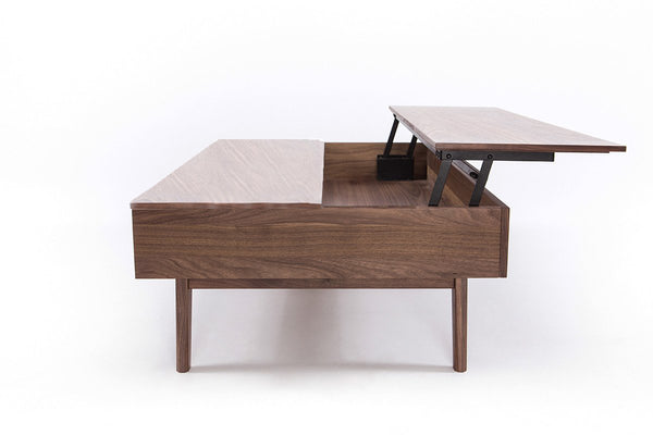 Furniture Maison Modern Walnut Lift Top Coffee Table