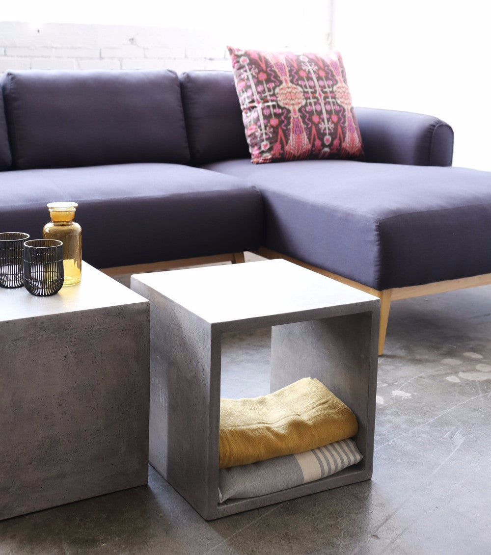Vega Concrete Cube (with Shelf)   Accessories   Furniture Maison.