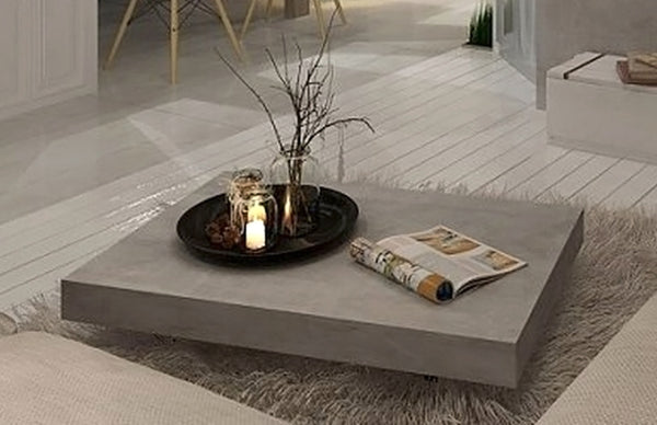 Furniture Maison Vega Concrete Coffee Table On Wheels