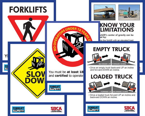 Forklift Safety Poster Set (5 posters)