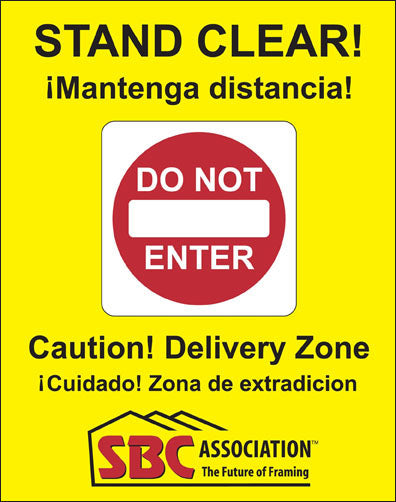 Safety Zone Sign (2 signs & 1 diagram for sign frame)