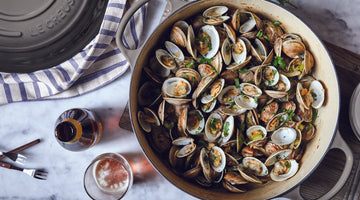 Beer-Steamed Clams with Fennel and Tarragon