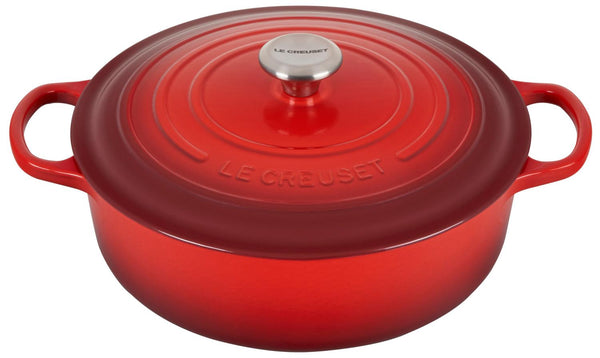 6.75 Qt. Wide Round-Red
